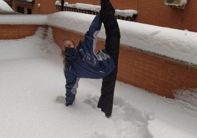 Nuestras gimnastas en la nieve